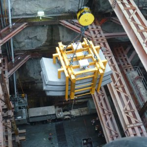 ACIMEX hydraulic storage clamp for tunnel