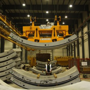 ACIMEX tunnel segment storage lifter